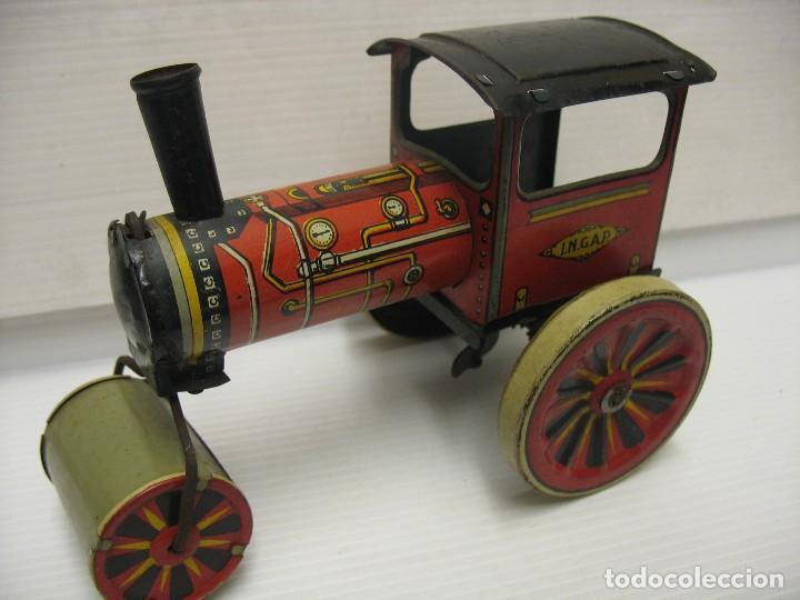 Juguetes antiguos de hojalata: juguete italiano ingap apisonadora - Foto 5 - 218627792