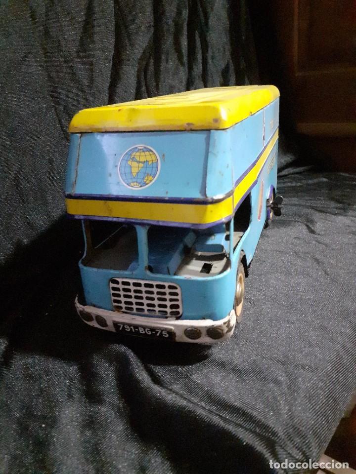 Juguetes antiguos de hojalata: Camion Joustra - Foto 2 - 219345556
