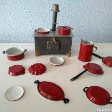 Juguetes antiguos de hojalata: ANTIGUA COCINA ECONÓMICA DE HOJALATA, AÑOS 20. Lote 221273607