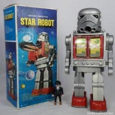Juguetes antiguos de hojalata: RARO ROBOT DE HONG KONG , STAR ROBOT , STORMTROOPER , STAR WARS - AÑOS 70. Lote 221603742