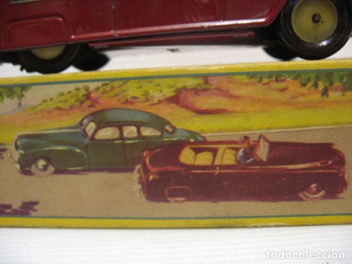 Juguetes antiguos de hojalata: coche rico descapotable con su caja - Foto 10 - 221967112