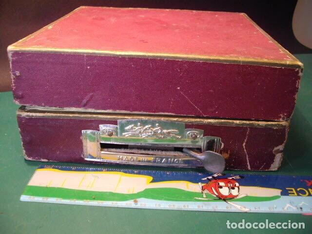 Juguetes antiguos de hojalata: ANTIGUO JUEGO FIRMADO JEP CARRERAS COCHE RARISIMO AÑO 1900 - 1910 MUY BUEN ESTADO CAJA 1490 EUR - Foto 5 - 222502073