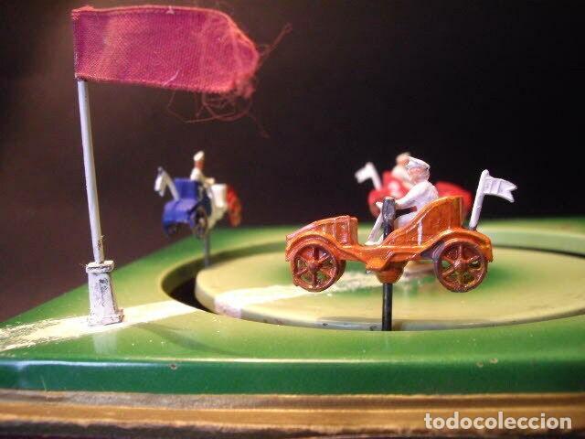Juguetes antiguos de hojalata: ANTIGUO JUEGO FIRMADO JEP CARRERAS COCHE RARISIMO AÑO 1900 - 1910 MUY BUEN ESTADO CAJA 1490 EUR - Foto 9 - 222502073