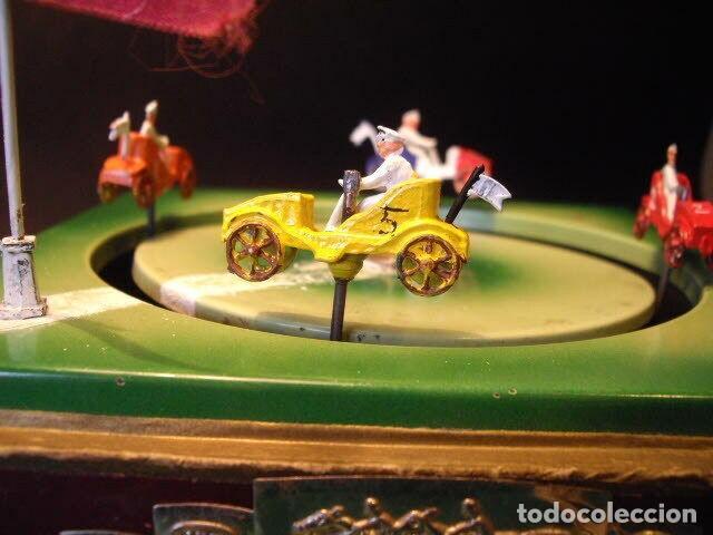 Juguetes antiguos de hojalata: ANTIGUO JUEGO FIRMADO JEP CARRERAS COCHE RARISIMO AÑO 1900 - 1910 MUY BUEN ESTADO CAJA 1490 EUR - Foto 10 - 222502073