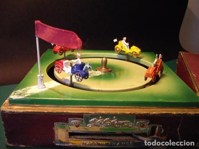 Juguetes antiguos de hojalata: ANTIGUO JUEGO FIRMADO JEP CARRERAS COCHE RARISIMO AÑO 1900 - 1910 MUY BUEN ESTADO CAJA 1490 EUR - Foto 11 - 222502073