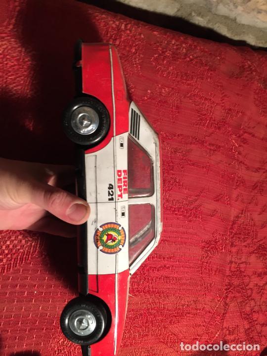 Juguetes antiguos de hojalata: Antiguo coche de juguete marca Román Fire Chief fire control años 70 - Foto 5 - 224904528