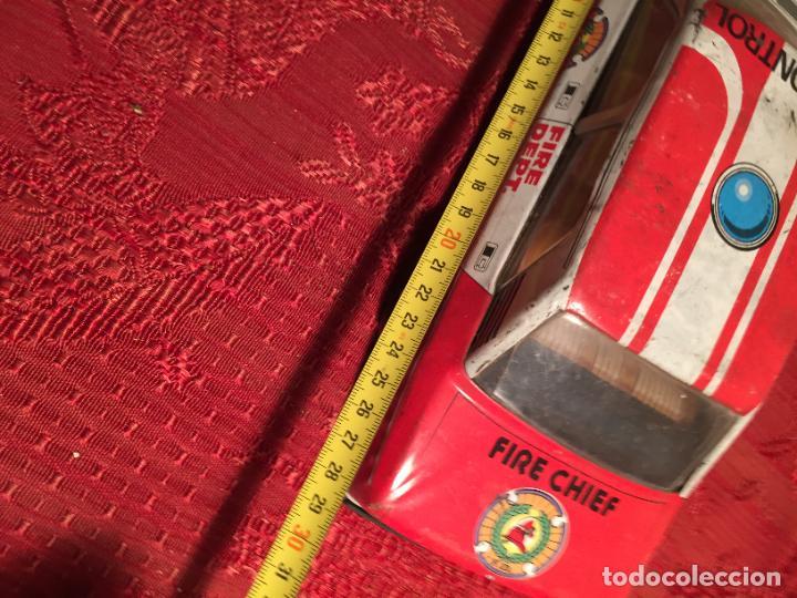Juguetes antiguos de hojalata: Antiguo coche de juguete marca Román Fire Chief fire control años 70 - Foto 9 - 224904528