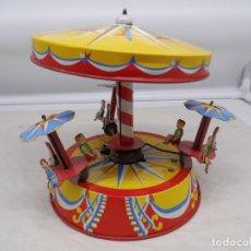 Juguetes antiguos de hojalata: JOUSTRA TIO VIVO DE LOS AÑOS 50 FUNCIONANDO. Lote 228465675