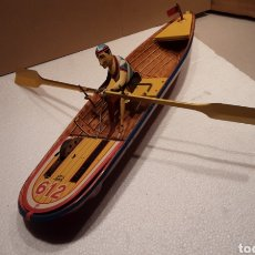Brinquedos antigos de folha-de-Flandres: BARCA REMOS DEL HISTÓRICO DE PAYA. Lote 229062855