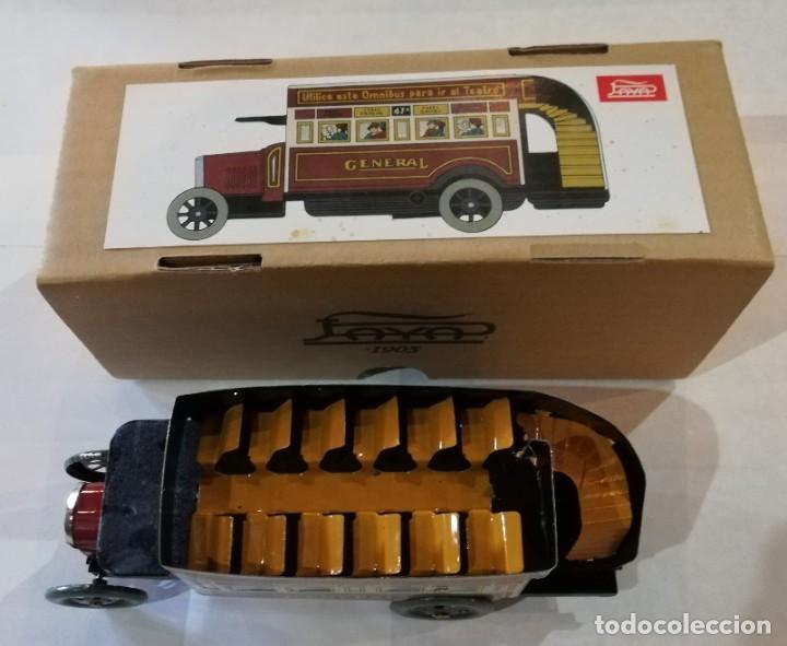 Juguetes antiguos de hojalata: Antiguo autobús La General, nuevo sin usar, en su caja original. - Foto 2 - 229102525