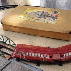 Juguetes antiguos de hojalata: PAYA AUTORAIL LA RATA 1001 COMPLETO EN CAJA Y FUNCIONANDO - MODELO DE DOS UNIDADES.. Lote 229908855