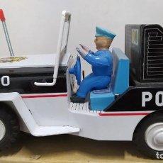 Juguetes antiguos de hojalata: 110 POLICE JEEP DE ICHIKO. MADE IN JAPAN. NUEVO SIN JUGAR.. Lote 230509465