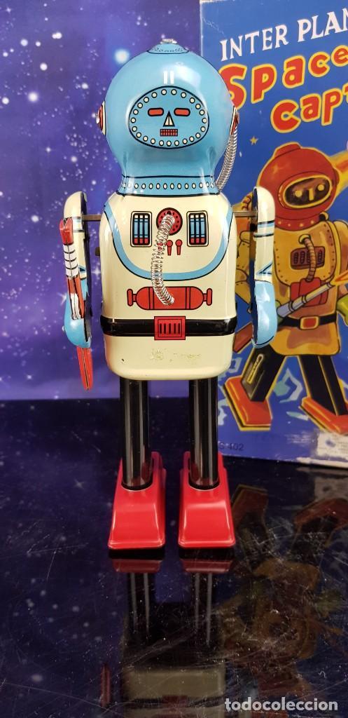Juguetes antiguos de hojalata: ROBOT DE HOJALATA ESTILO VINTAGE - INTERPLANET SPACE CAPTAIN - EXCELENTE!!! - Foto 2 - 231632105
