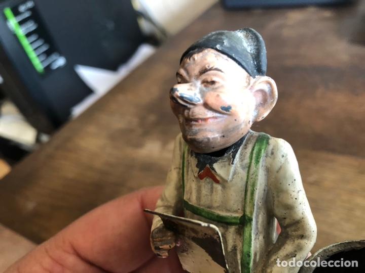 Juguetes antiguos de hojalata: ANTIGUA FIGURA DE ESTAÑO CABEZA MOVIL, ALEMANIA. ATRIBUIBLE A GEORG HEYDE ? - Foto 6 - 232438315