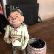 Juguetes antiguos de hojalata: ANTIGUA FIGURA DE ESTAÑO CABEZA MOVIL, ALEMANIA. ATRIBUIBLE A GEORG HEYDE ?. Lote 232438315