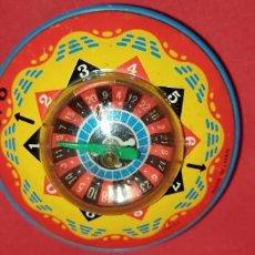 Juguetes antiguos de hojalata: RULETA DE OJALATA MADE IN JAPAN. Lote 235531160