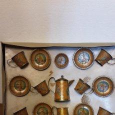 Juguetes antiguos de hojalata: JUEGO DE CAFÉ DE JUGUETE DE HOJALATA. AÑOS 20. Lote 235906160