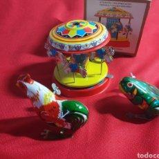 Juguetes antiguos de hojalata: ANTIGUOS JUGUETES HOJALATA. Lote 236669830