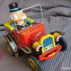 """Juguetes antiguos de hojalata: ANTIGUO COCHE - """"WILLY"""" THE WALKING CAR - MADE IN JAPAN. Lote 236753555"""