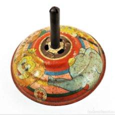 Juguetes antiguos de hojalata: PEONZA MADE IN JAPAN (IDEAL TOYS) AÑOS 30. Lote 238459250