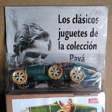Juguetes antiguos de hojalata: LOS CLÁSICOS JUGUETES DE LA COLECCIÓN PAYÁ. BLISTER COMPLETO: LIBRO, COCHE Y SU CAJA. Lote 240826125