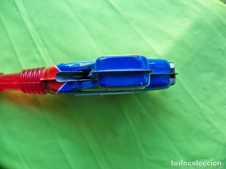 Juguetes antiguos de hojalata: Antigua pistola Espacial de chapa y platico SHUDO made in Japan - Foto 13 - 241551460