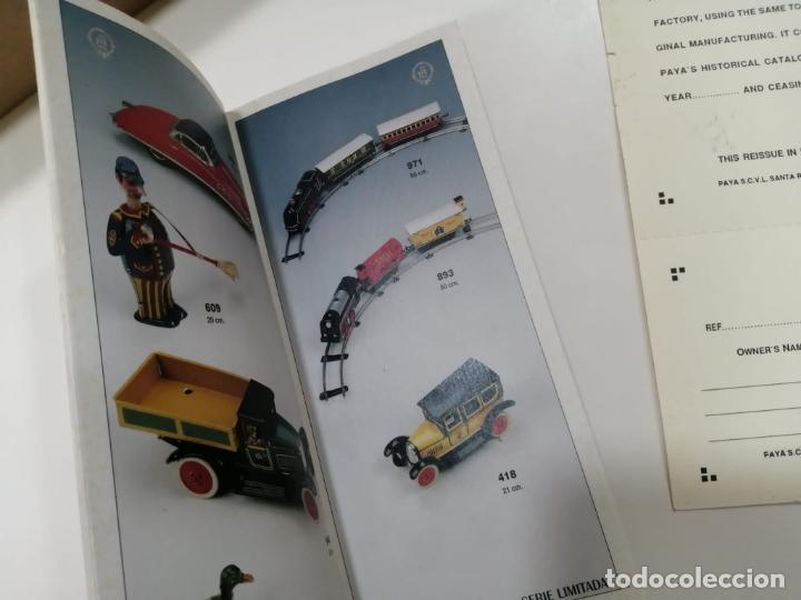 Juguetes antiguos de hojalata: TREN FERROCARRIL VIAJEROS RESORTE PAYA DE 1933 - REPRODUCCION CERTIFICADA Y NUMERADA Ref. 971 - Foto 16 - 241936660