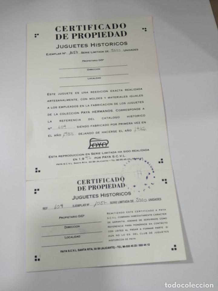 Juguetes antiguos de hojalata: BARRENDERO PAYA DE 1933 - REPRODUCCION CERTIFICADA Y NUMERADA Ref. 609 - Foto 5 - 241939325
