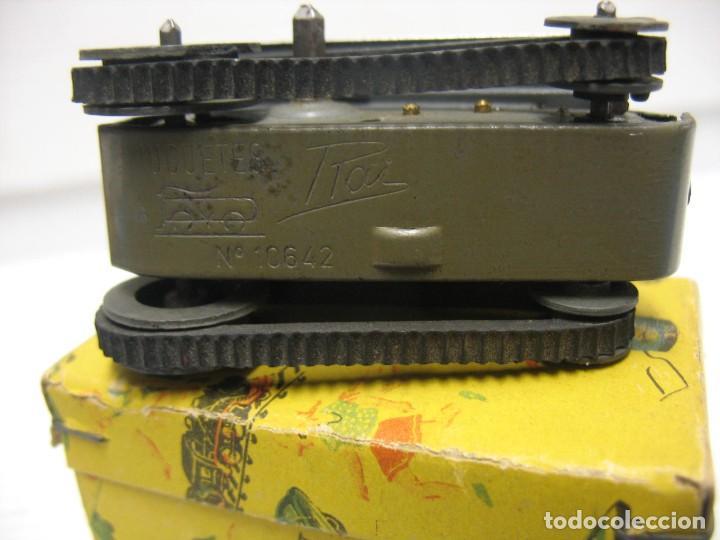 Juguetes antiguos de hojalata: paya tanque pulga con su caja - Foto 4 - 241947645