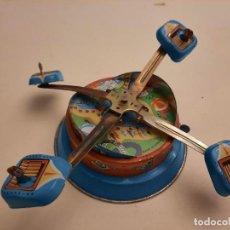 Juguetes antiguos de hojalata: TIOVIVO DE BARCAS. Lote 242128070