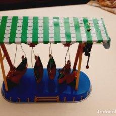 Juguetes antiguos de hojalata: EL TIOVIVO DE BARCAS. Lote 242139370