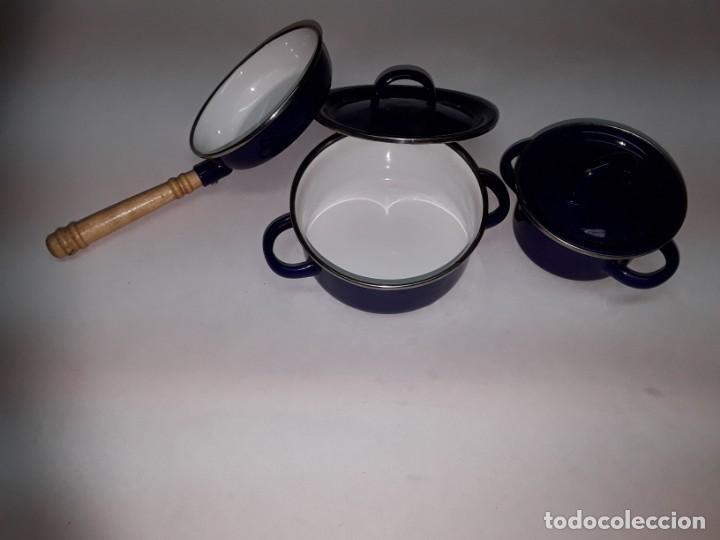 CACHARROS COCINA JUGUETE METAL (Juguetes - Juguetes Antiguos de Hojalata Españoles)