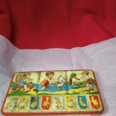 Juguetes antiguos de hojalata: MUY BONITA Y ANTIGUA CAJA DE ACUARELAS.. Lote 244493770