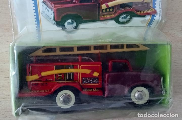 Juguetes antiguos de hojalata: Coche de bomberos Juguete de Hojalata en su blister - Foto 3 - 245236855