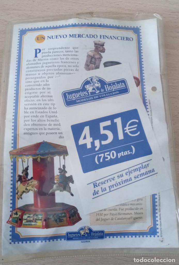 Juguetes antiguos de hojalata: Noria Juguete de Hojalata en su blister - Foto 5 - 245236955
