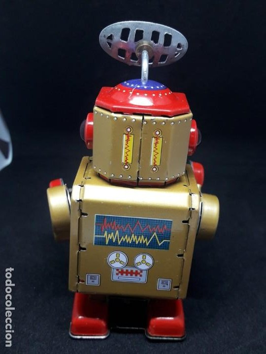 Juguetes antiguos de hojalata: robot hojalata a cuerda - Foto 6 - 245372625