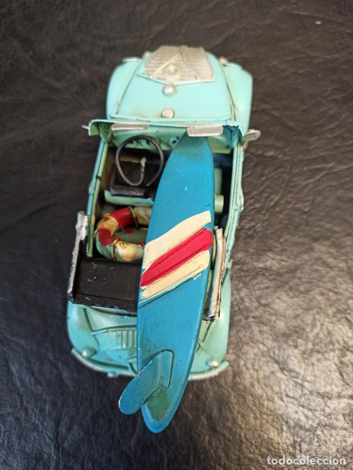 Juguetes antiguos de hojalata: Decorativo escarabajo surfero. Volkswagen. V3 - Foto 2 - 248961520