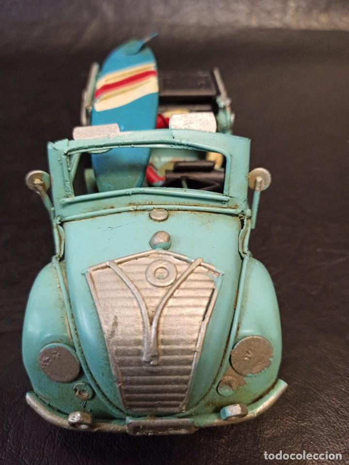Juguetes antiguos de hojalata: Decorativo escarabajo surfero. Volkswagen. V3 - Foto 4 - 248961520