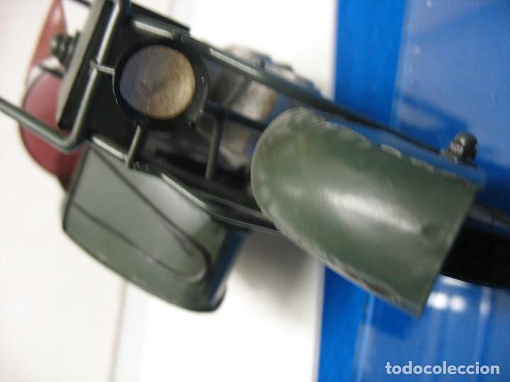 Juguetes antiguos de hojalata: moto con sidecar vintage - Foto 8 - 251370115