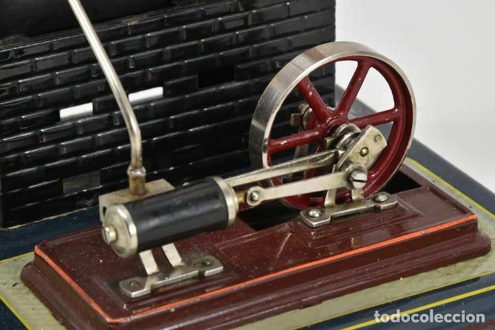 Juguetes antiguos de hojalata: ANTIGUA MAQUINA DE VAPOR CALDERA BING 28x19x19 cm - Foto 3 - 252166930