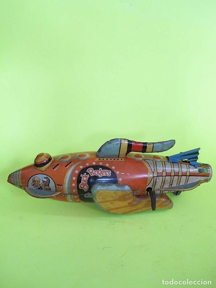 Juguetes antiguos de hojalata: MUSEO ANTIGUA NAVE ESPACIAL HOJALATA AÑO 1920 ORIGINAL LOUIS MARX & CO BUCK ROGERS COHETE SIMILPAYA - Foto 14 - 253518985