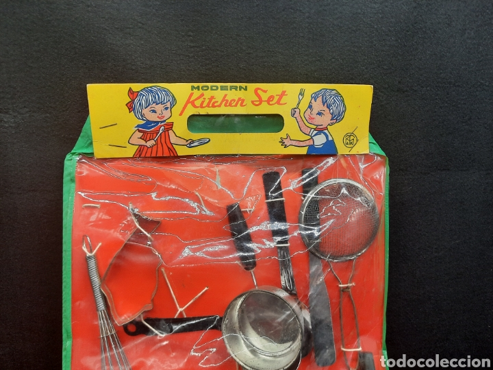 Juguetes antiguos de hojalata: Antiguo juguetes de hojalata de cocina a estrenar - Foto 2 - 262164670