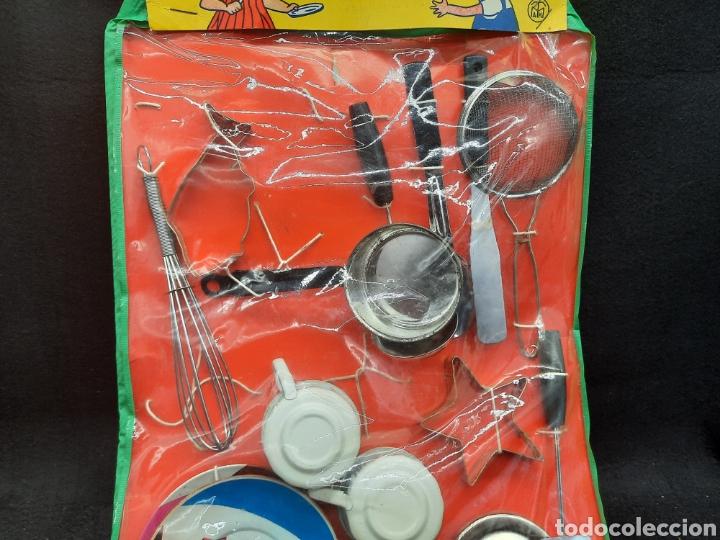 Juguetes antiguos de hojalata: Antiguo juguetes de hojalata de cocina a estrenar - Foto 3 - 262164670