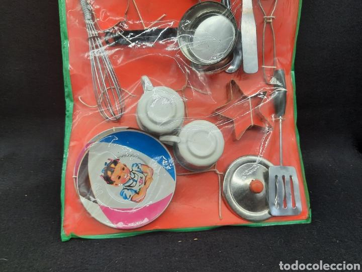 Juguetes antiguos de hojalata: Antiguo juguetes de hojalata de cocina a estrenar - Foto 4 - 262164670