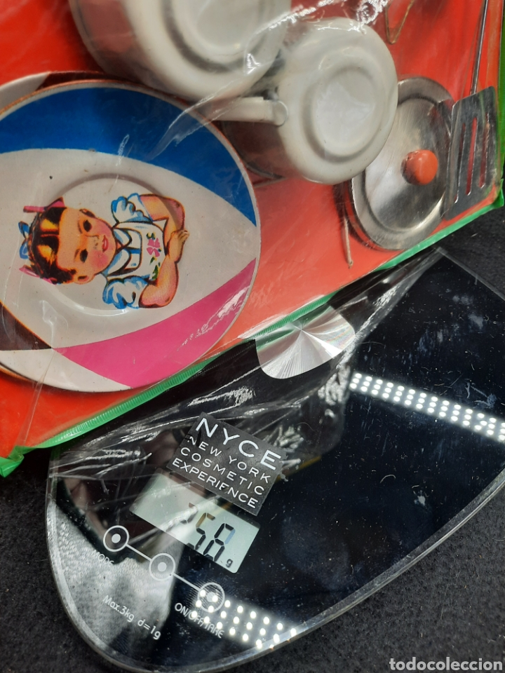 Juguetes antiguos de hojalata: Antiguo juguetes de hojalata de cocina a estrenar - Foto 9 - 262164670