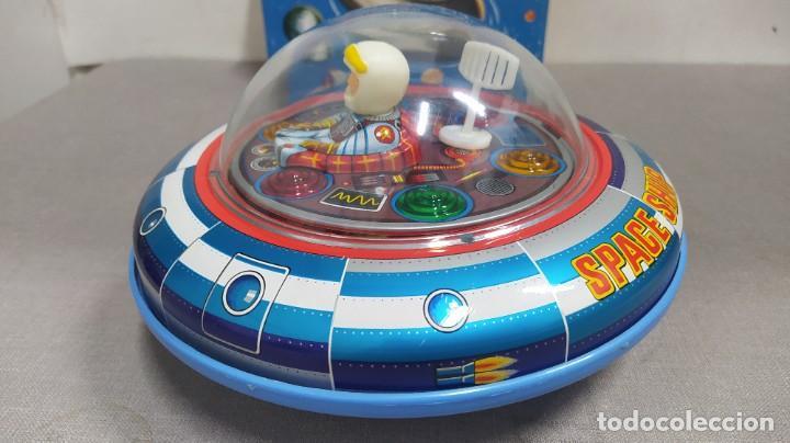 Juguetes antiguos de hojalata: Space ship X-5 de Masudaya modern toys con caja, años 60. Funcionando - Foto 3 - 262451495