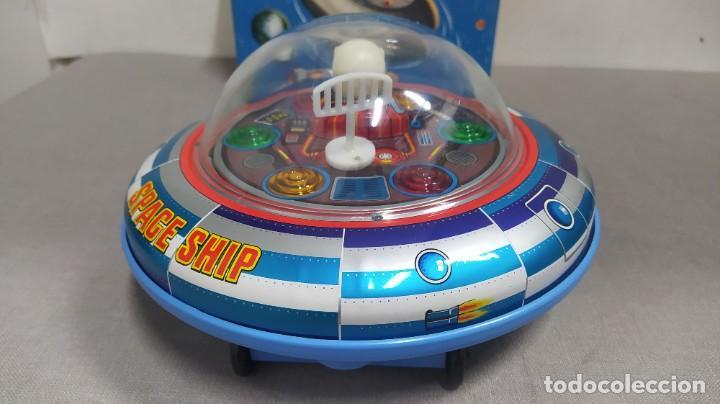 Juguetes antiguos de hojalata: Space ship X-5 de Masudaya modern toys con caja, años 60. Funcionando - Foto 4 - 262451495
