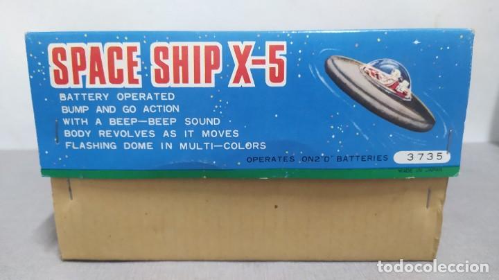 Juguetes antiguos de hojalata: Space ship X-5 de Masudaya modern toys con caja, años 60. Funcionando - Foto 11 - 262451495