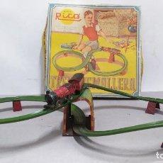 Juguetes antiguos de hojalata: TREN CREMALLERA RICO N° 273 COMPLETO CON CAJA. Lote 262460850