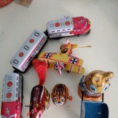 Juguetes antiguos de hojalata: LOTE HOJALATA. Lote 263156660